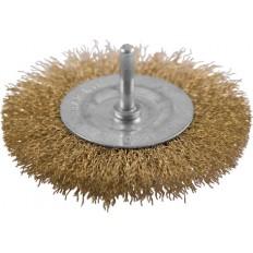 Корщетка дисковая прямая, для дрели со шпилькой 38мм арт. 106103