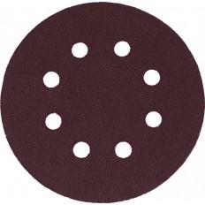 Круг наждачный с липучкой, с отверстиями, D=125 мм, набор 5 шт, Р100 арт. 39785