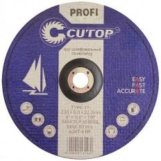 Профессиональный диск шлифовальный по металлу Т27-150 х 6,0 х 22 Cutop Profi арт. 39999т
