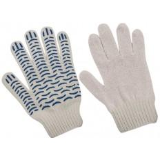 """Перчатки вязаные, """"Волна"""", класс вязки 7,5, Х/Б с ПВХ напылением арт. 040774"""