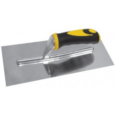 Гладилка нержавеющая с мягкой черно-желтой ручкой, плоская, 280 х 130 мм арт. 05172