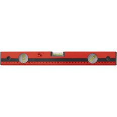 Уровень (3 глазка/линейка) красный, фрезерованная грань, 400 мм арт. 062134