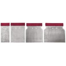 Шпатели металлические (Япончик), набор 4 шт. (50, 80, 100, 120 мм) арт. 06745