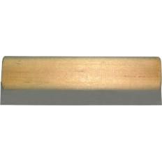Шпатель ПВХ  белый с деревянной ручкой, 100 мм арт. 06831