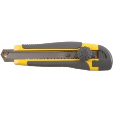 Нож технический 18 мм усиленный, вращ.прижим, лезвие 15 сегментов арт. 10255