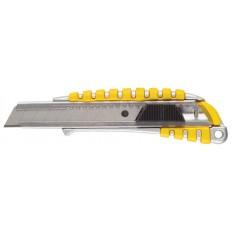 Нож технический 18 мм усиленный, металл.корпус с резин.вставками арт. 10256
