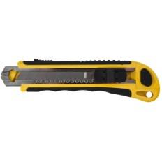 Нож технический 18 мм усиленный, кассета 3 лезвия, автозамена лезвия арт. 10261