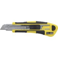Нож технический 18 мм усиленный, кассета 3 лезвия , автозамена лезвия. арт. 10265