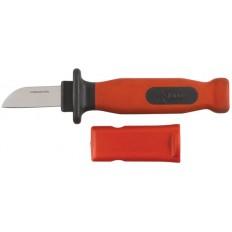 Нож изолированный 1000 В, нерж.сталь, лезвие 50мм, прорезин.ручка арт. 10605