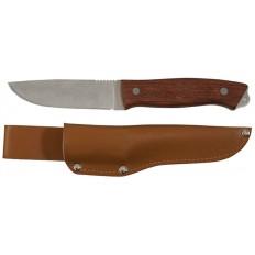 Нож туриста, нерж.сталь, дерев.ручка, лезвие 105 мм арт. 10730