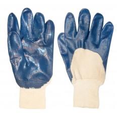 Перчатки рабочие  c частичным одинарным нитриловым обливом арт. 12422