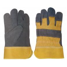 Перчатки рабочие кожаные (спилковые), 2-х цветные арт. 12439