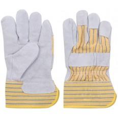 Перчатки рабочие кожаные (коровья кожа), 10,5 (серые) арт. 12442