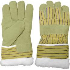 Перчатки рабочие кожаные, с мехом внутри, 10.5 (арт. поставщика 3518) (3518) арт. 12450