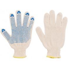 Перчатки х/б 4 нити, 10 класс, с ПВХ, белые арт. 12484
