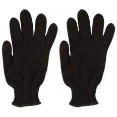 Перчатки вязанные утепленные, полушерстяные, двойной вязки (3 нити) размер 20 арт. 12500