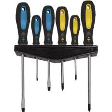 Набор отверток из 6 шт., хром-ванадиевая сталь, двухкомпонентые ручки. арт. 126030