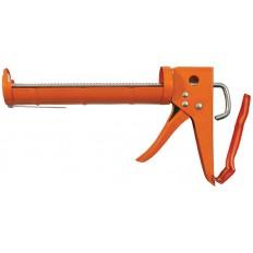 """Пистолет для герметика 9"""" полукорпусной усиленный, зубчатый шток арт. 14230"""