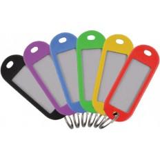 Бирки для ключей, пластиковые (набор 6 шт) арт. 171802