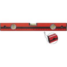 Уровень (3 глазка/линейка) красный, фрезерованная грань, 1000 мм арт. 18025
