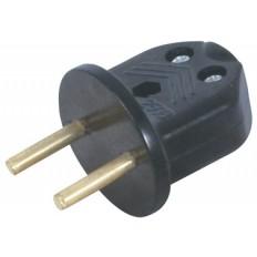 Вилка электрическая универсальная, карболитоавя, В6-02 Без заземляющего контакта, 6 А арт. 203501