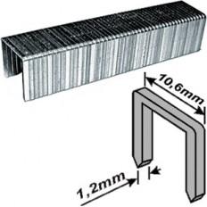 Скобы закаленные Профи, широкие прямоугольные (тип 140), ширина 10.6 мм, 10 мм 500 шт. арт. 31210