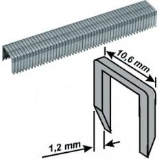 Скобы закаленные Профи, широкие, прямоугольные, со скосом 10 мм 500 шт. арт. 31260