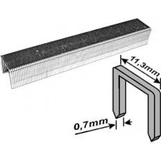 Скобы для степлера закаленные усиленные узкие (тип 53), 6 мм, 1000 шт. арт. 31326