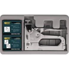 Степлер металлический 4-14 мм Профи (4 в 1) в чемоданчике + скобы арт. 32165