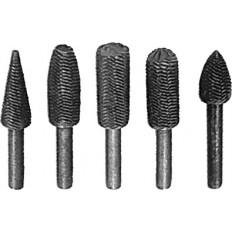 Шарошки металлические для фигурных отверстий, по металлу 5 шт. арт. 36475