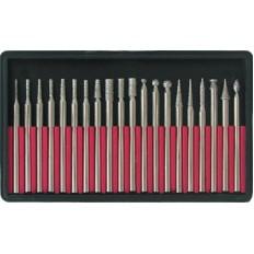 Шарошки, усиленная сталь 70 с алмазным напылением, набор 20 шт. арт. 36485