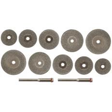 Круги отрезные с алмазным напылением, 12 шт. арт. 36489