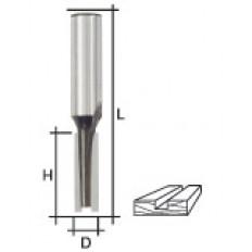 Фреза пазовая прямая с двойным лезвием, DxHxL = 10х20х58 мм арт. 36640