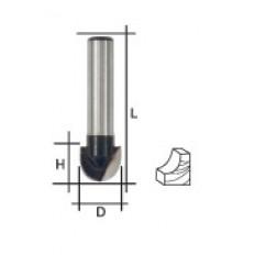 Фреза пазовая галтельная, DxHxL = 10х6,5x40 мм арт. 36648