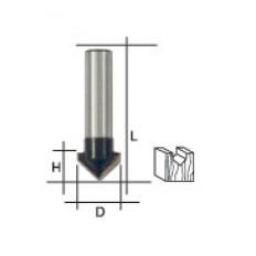 Фреза пазовая V-образная, DxHxL = 10х10х42 мм арт. 36652
