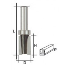 Фреза кромочная прямая с верхним подшипником, DxHxL = 16х20х60 мм арт. 36678
