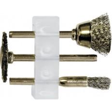 Корщетки стальные , набор 3шт. арт. 36903