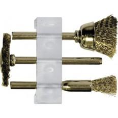 Корщетки латунированные , набор 3шт. арт. 36904