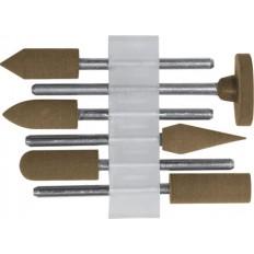 Насадки резиновые полировальные , средней зернистости , набор 6 шт. арт. 36922
