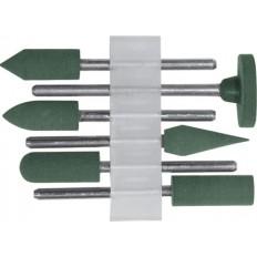 Насадки резиновые полировальные , мелкой зернистости , набор 6 шт. арт. 36923