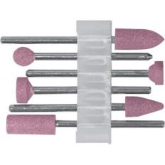 Шарошки по металлу, алюминий-оксидные , мини , набор 6шт. арт. 36924
