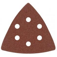 Листы шлифовальные треугольные на тканевой основе, 80 мм, набор 5 шт. арт. 37953