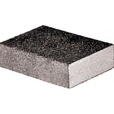 Губка шлифовальная алюминий-оксидная, 100х70х25мм, средняя жесткость Р180/Р360 арт. 38370
