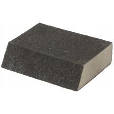 Губка шлифовальная угловая, алюминий-оксидная, 100х70х25мм, средняя жесткость, Р120 арт. 38374