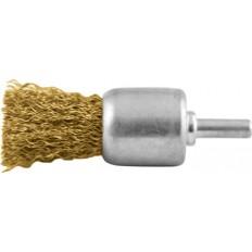Корщетка кистевая, для дрели со шпилькой, стальная проволока, 24мм арт. 38470