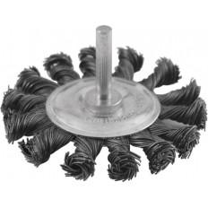 Корщетка дисковая прямая, стальная витая проволока, 100мм арт. 38474
