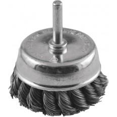 Корщетка чашечная, для дрели со шпилькой, стальная, 65мм арт. 38477