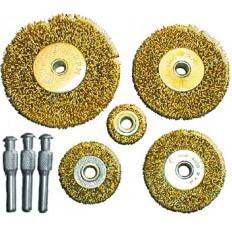 Корщетки набор 5 шт. (колеса 25, 38, 50, 63, 75 мм) арт. 38572