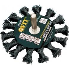 Корщетка-колесо 75 мм витая арт. 38585