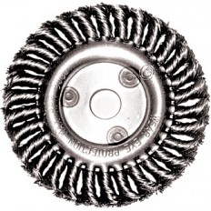 Корщетка дисковая прямая, для УШМ, стальная, 125 мм арт. 39030
